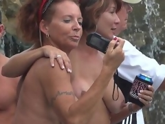 Milfs deck out go-go during Fantasy Fest