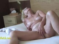 Granny Eva abuse plus fingering hairy pussy