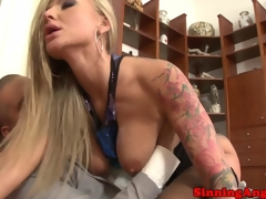 Ass gaping blonde milf enjoys rough anal ramming