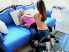 Amazing lesbians sucks fucks increased by lick movie 2