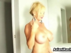 Sexy blonde babe gets horny rubbing outlook 5