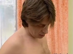 Dirty blonde mature floozy gets her hairy