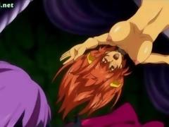 Hentai whores getting cumshot