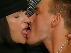Aged brunette takes care be incumbent on their way gigolo with mouth and lubricious chink