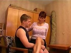 Enchanting mother in hot gangbang
