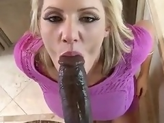 Whacking big ebony cock for lovely milf Zoey Wine and dine