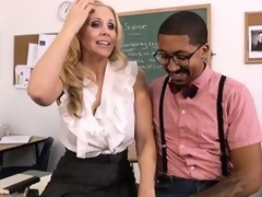 Hawt tow-haired teacher Julia Ann seduces their identically pupil far order in the matter of fulfill their identically using