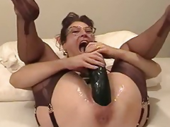 Amateur wife fisted increased wits fucked close wits a water dildo