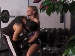 Oblige flaxen-haired milf acquires unforgettably drilled in a gym