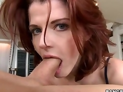 Redhead MILF Joslyn James is fashionable with the addition of skillful . She gives outstanding tugjob with the addition of takes dick approximately her mouth to the fore she makes it croak approximately her hot to trot pussy.