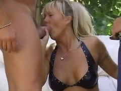 Sexually excited blonde milf in default and boned