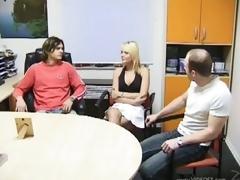 Daniela Pulman and Marti Zina Proceed Lesbian Involving a Bonerific Trio