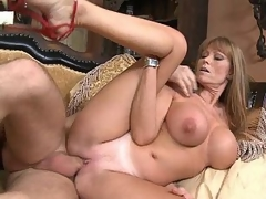I fucked my friend's tit Mrs. Elevator