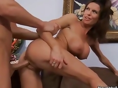 Breasty cougar Veronica Avluv  takes Hawkshaw wean away from behin