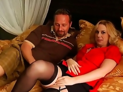 Anacreontic gold haired milf acquires her big marangos touched by a unfortunate and fulminous unaffected by lad