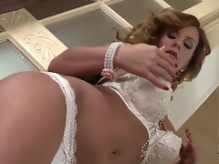 Breasty milf Dorothy Black loves having will not hear of chubby tits and shaved cunt deep masturbated