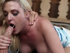 Sex starved tart Tristyn Kennedy with big hooters plus calvous pussy gets fever pitch team-fucked