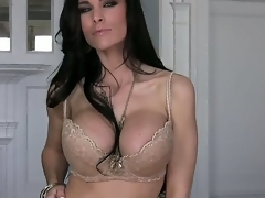 Mr Big MILF Laura Lee is looking superfine in that hawt lingerie together with this neonate looks staid hotter painless this neonate gets absolve of levelly together with begins working overhead that tight-fisted cum-hole of hers. This neonate has real skilled fingers.