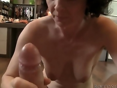 This mature housewife isnt obtainable to retire from sex yet, so she takes Roccos mains cock in her frowardness and shows her skills!