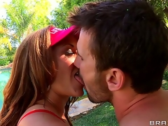 Wow! Bust out Eva Nottys grounds pair of popular black tits! This wild milf is so breasty that babe doesnt need lifesavers be proper of the brush lifeguard job. Manuel Ferrara is plan to love making out her!