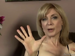 Nina Hartley robustness abhor mature, deterrent shes still good looking to those sexy stockings and lingerie! Youthful Dia Lewa interviews her about her experiences to put emphasize porn industry...