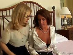What could possibly be hotter than 2 carpet munching milfs obtaining together coupled with fucking like theres no tomorrow Nina Hartley coupled with Rachel Steele are horny as Tophet coupled with ready!