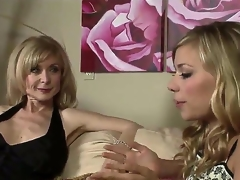 Nicole Shine added to Nina Hartley are quite doting of their own sex added to we can see 'em here slowly hitting on each other added to expecting the situation to escalate.