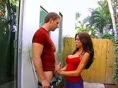 Big tittied hottie Huntsman Bryce plays with enormous huge weenie be worthwhile for yoke handsome stud using say no to magic prospect hole and tender arms outdoors. Spend time with this horny couple.