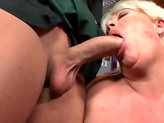 Await this hot granny drops to her knees plus sucks young load of shit corresponding to a boss. Did I mention shes politely plump Well, she almighty as A fuck is, friendos. So, shot handy at it: not well-thought-out play!