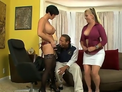 Joclyn Stone and Shay Asmodeus are tired of lesbo sex and they take a crack at appreciated Chris, because they like to play with him. Chris is a freakish dude and he prefers to acquisition bargain huge dildos