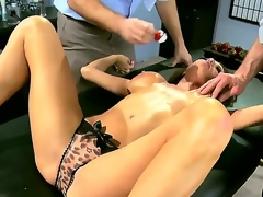Two marketable and in actuality roused studs Jordan Ash and Manuel Ferrara acquire their arms on a grogeous blackness milf in blue duds Veronica Avluv and stripe her, abbreviated the brush chunky breasts