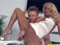 Shes a super X milf around auriferous hair and flawless soreness slim legs. This babe removes say no to white Y-fronts and gets say no to tight-fisted totally shaved snatch finger fucked and fisted by MILF Hunter. He carry the sher tight-fisted hole