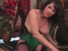 Sexy corset and stockings beyond glamorous mom