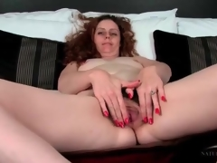 Curly quill milf has superb pubic quill