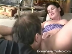 Milf with stunning put some life into tits on the blink by her dude
