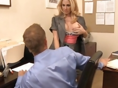 MILF Mr Big brass seduces employee