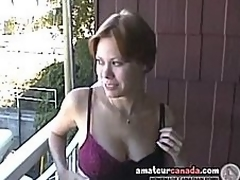 Busty milf Canadian Cassie ablaze with girlfriend out be incumbent on the closet