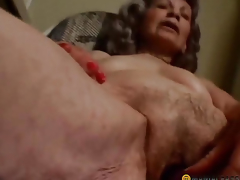 Woman lubricates sex knick-knack
