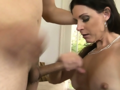 Breathtaking milf with long black hair, hawt milk sacks and a miserly cunt has fantasies here explore