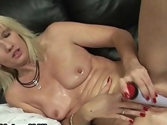 Horny blonde of age matriarch loves fucking