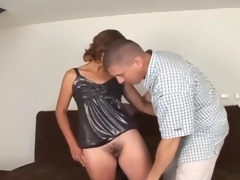 Deep irritant banging with bushy babe