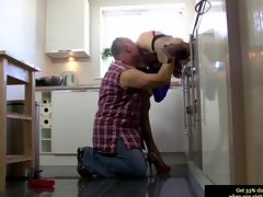Euro mature concerning stockings gets her twat impaled