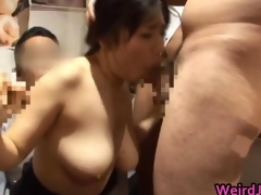 Azusa nagasawa sucking cock and creamed face