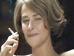 Hot MILF Smoking just about her Underware