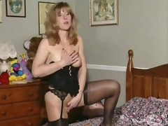 Slutty British milf upon her without equal scene