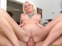 Hardcore sex with beautiful big titted blonde milf