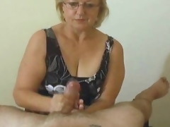 Mature with genius gives POV handjob