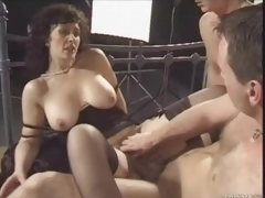 Retro triptych with reference to nasty brunette milf