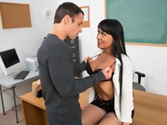 Hot Professor Seduce Her Former Student
